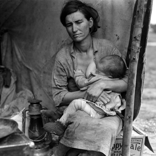 Dorothea Lange: Migrant mother (alternative), Nipomo, California, 1936