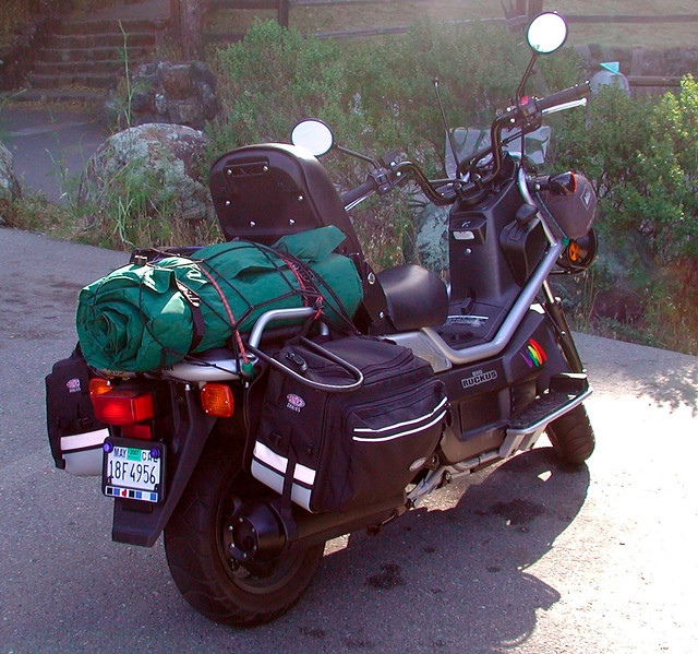 Loaded with Camping Equipment