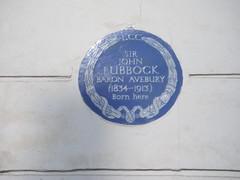 Photo of John Lubbock blue plaque