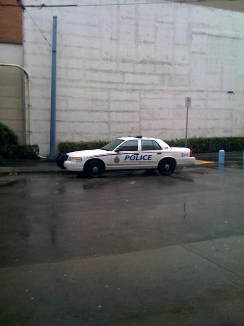 GVTA police car at Metrotown