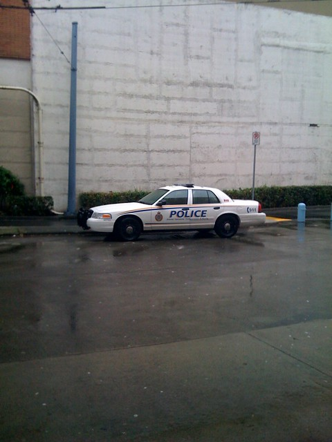 GVTA police car at Metrotown