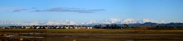 San Gabriel Snow Panorama