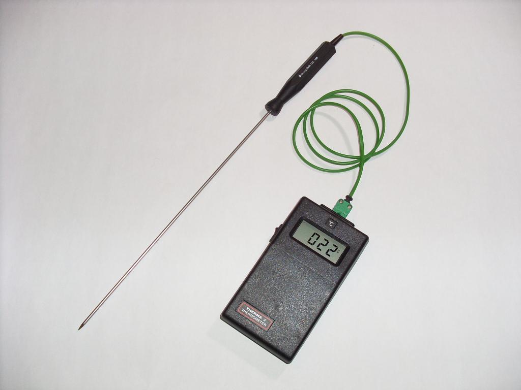 Pile temperature measuring