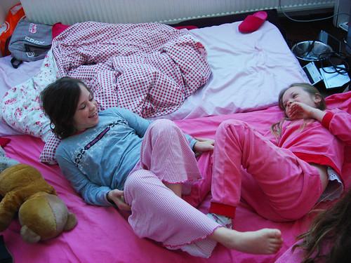 Livingroom sleepover morning