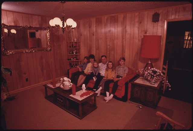 Wayne Gipson Family in the Living Room of the House That <a data-toggle=