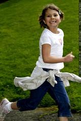 rebecca running a lap in the jogathon