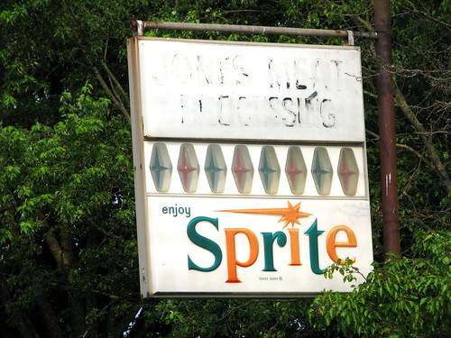 Vintage Sprite sign at Jones Meat Processing!