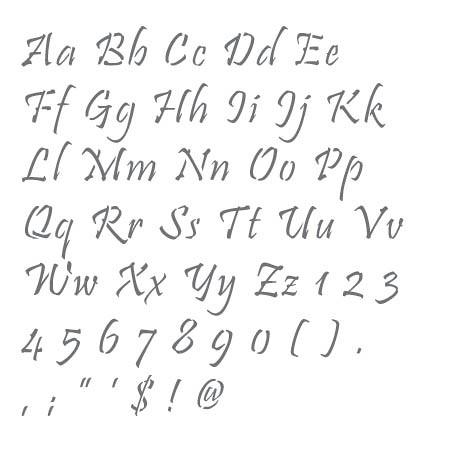 Printable Letter Stencils