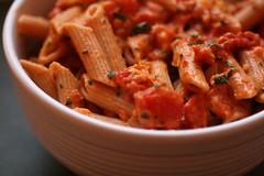 spaghetti(0.0), meat(0.0), produce(0.0), italian food(1.0), tomato sauce(1.0), vegetarian food(1.0), penne(1.0), food(1.0), dish(1.0), cuisine(1.0),