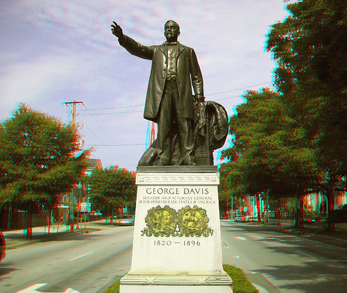 statue nc 3d northcarolina anaglyph confederate wilmington georgedavis