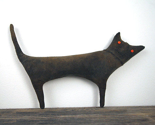 Extreme Primitive Folk Art Cat