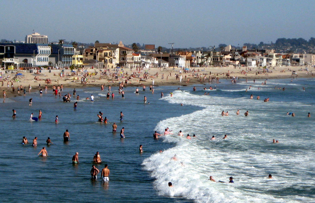 Mission Beach, San Diego, Everybody in the Water!