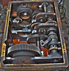 Gearbox of some old machine