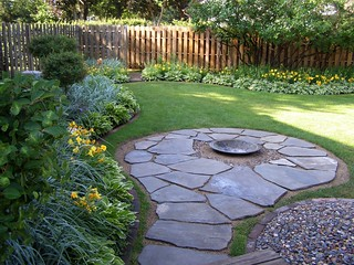 Backyard - Flagstone/Firepit