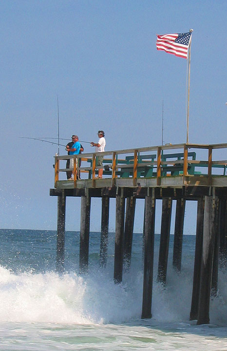 Twists and turns fishing off the pier ocean grove new for Fishing off a pier