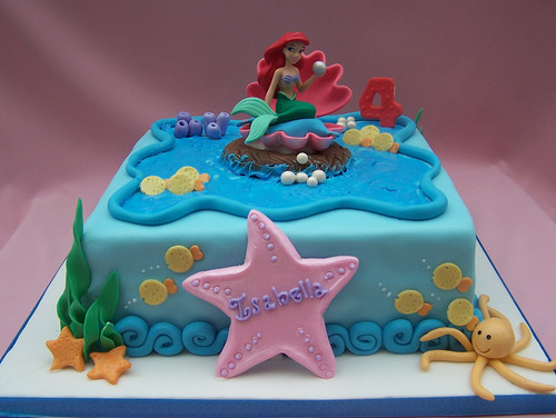 The Little Mermaid Cake Hand Made Decorations The Little Flickr