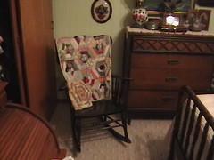 Grandma Martha's pillow and rocker quilt throw