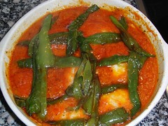 stew, curry, vegetable, vegetarian food, asam pedas, red curry, food, dish, cuisine,