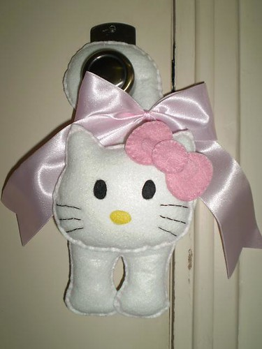 Maçaneta de Hello Kitty Rosa