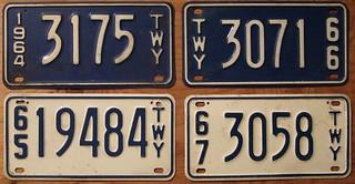 NEW YORK 1964-67 THRUWAY plates