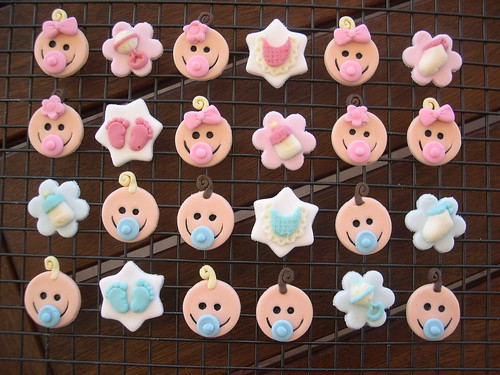 Baby shower cupcake toppers best baby decoration for Baby shower cupcake picks decoration