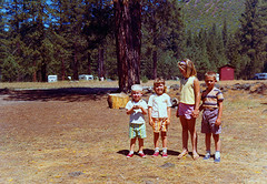 """Hat Creek Campground at """"Old Station"""" 07/23/1964"""