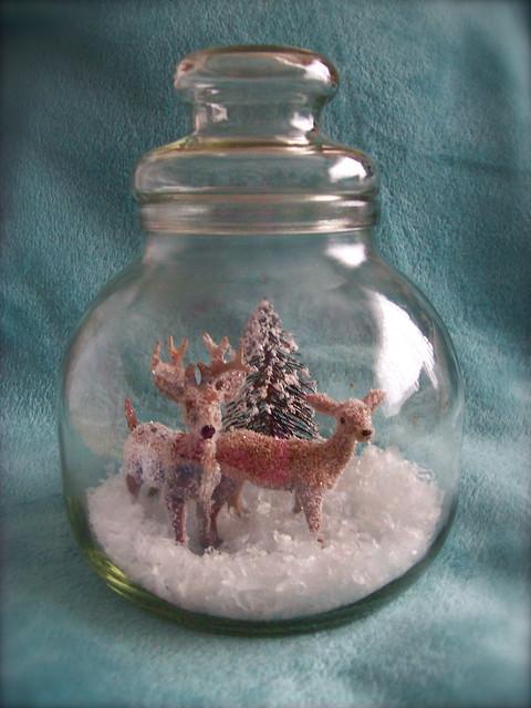 Glitter Deer Winter Terrarium 2