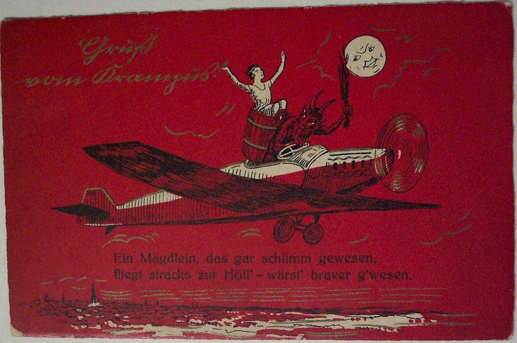 Vintage Christmas Postcard - Krampus