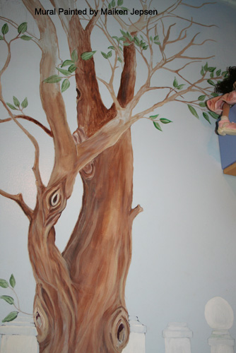 Tree murals a gallery on flickr for Black tree mural
