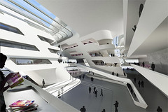 Zaha Hadid, Library and Learning Center at the University of Economics & Business, Vienna