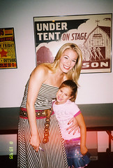 Allison Marshall & LeAnn Rimes backstage at the Music Circus