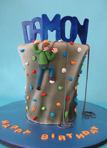 Cake Designs Rock Climbing : Rock climbing cake For a birthday party at a rock ...