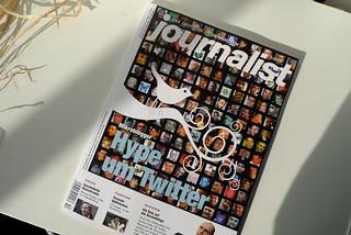"""Twitter à la une du magazine allemand """"Jounalist"""""""