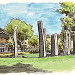 standing stones near the silo