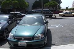 automobile, automotive exterior, vehicle, mid-size car, subcompact car, honda, compact car, bumper, sedan, land vehicle, honda civic,