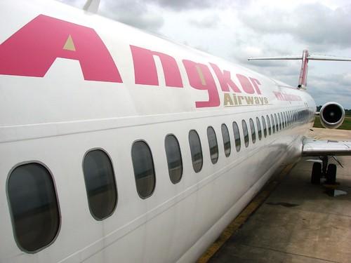 坐過一次的吳哥航空 MD-83