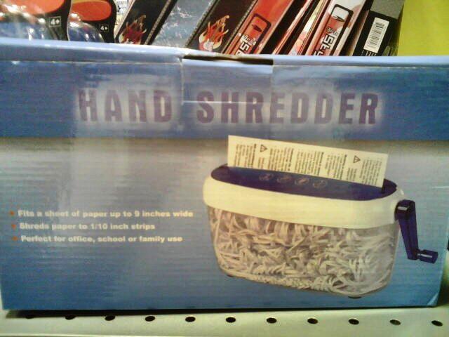 Hand shredder