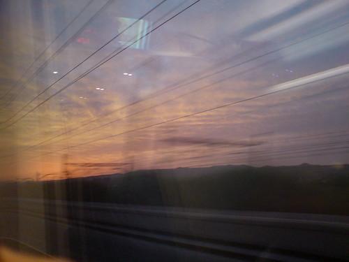 railroad españa window train sunrise reflections tren ventana spain phone sonyericsson cell amanecer teléfono ave celular catalunya espagne soe móvil tarragona reflejos ferrocarril arboç espanya highspeedtrain bsos baixpenedès k810i theperfectphotographer multimegashot mevoypalbarco