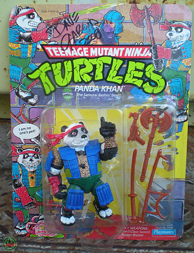 TEENAGE MUTANT NINJA TURTLES :: PANDA KHAN ..signed by P.K. co-creator Dave Garcia i (( 1990 ))