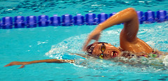 synchronized swimming(0.0), breaststroke(0.0), individual sports(1.0), swimming(1.0), sports(1.0), recreation(1.0), outdoor recreation(1.0), leisure(1.0), swimmer(1.0), water sport(1.0), medley swimming(1.0), freestyle swimming(1.0),