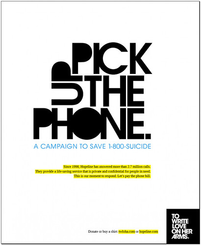 Pick up the phone campaign flickr photo sharing