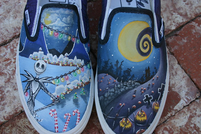 Nightmare before christmas custom vans | Flickr - Photo Sharing!