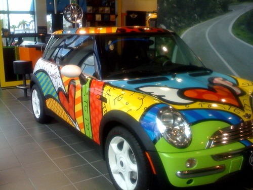 Britto Mini-Cooper for charity