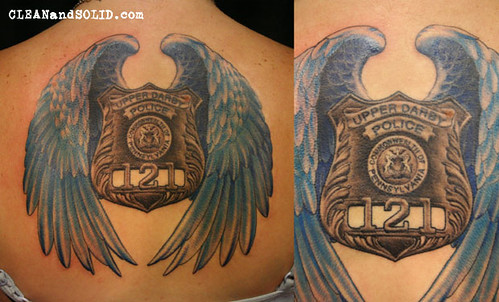 Police badge tattoo designs the image for Law enforcement memorial tattoo