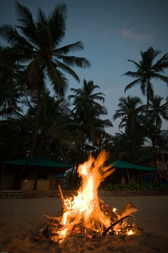 Palolem Beach Fire