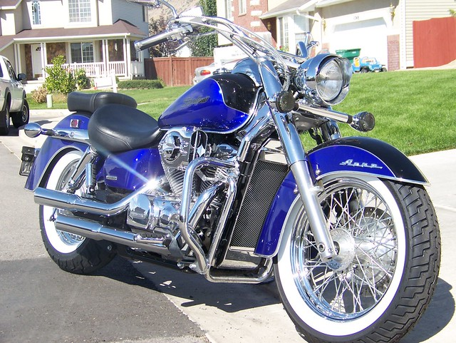 2004 honda shadow aero vt750 blue and black 2 tone honda shadow 750