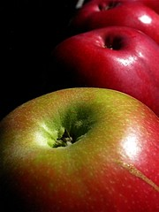 red, macro photography, produce, fruit, food, close-up, still life photography, granny smith, apple,