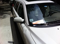 Look who got a parking ticket
