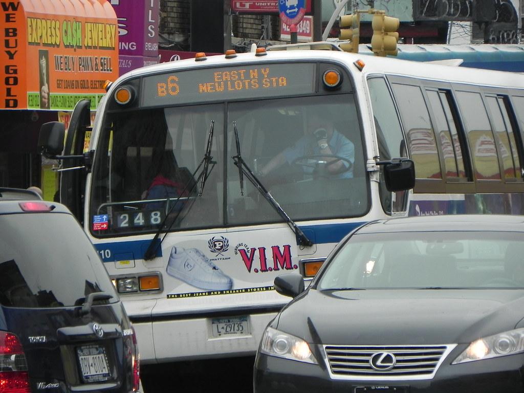 MTA NYC NovaBus RTS-06 (model T80206) 5110 on the B6 along Glenwood Rd.