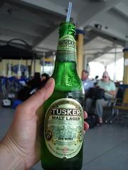 Tusker Malt, Mombasa airport